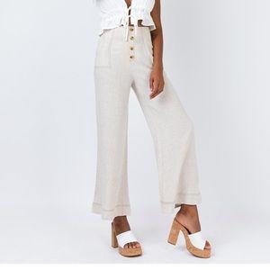 High waisted, Wide leg pants